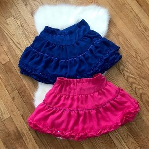 ❗️2 FOR 20❗️JUSTICE Girls Ruffle Sequin Skirts